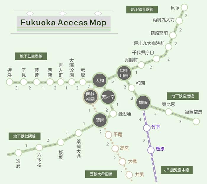 福岡路線図